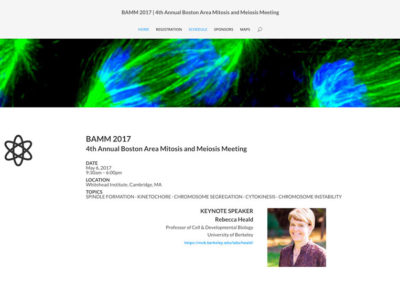 BAMM 2017 4th Annual Boston Area Mitosis and Meiosis Meeting | HOME