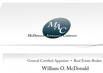 custom GRAPHIC DESIGN projects Grand Rapids MI-Graphic Design for PRINT - Grand Rapids MI-McDonald Appraisal Company - business card (offset-fold)