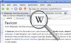 What is a favicon?