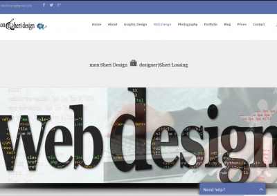 SCREENSHOT| web design page