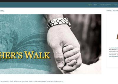 Responsive WordPress WEBSITE design - Grand Rapids MI-A Fathers Walk | HOME - WordPress blog website design