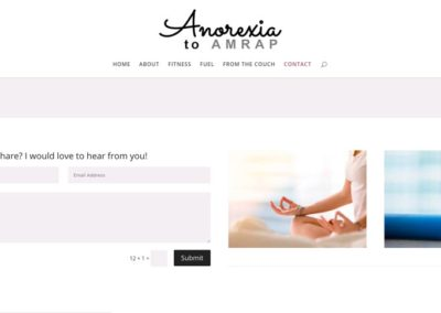 Anorexia to AMRAP | Contact