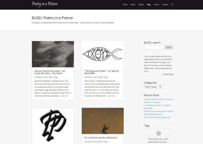 SCREENSHOT| blog page - WordPress blog website design
