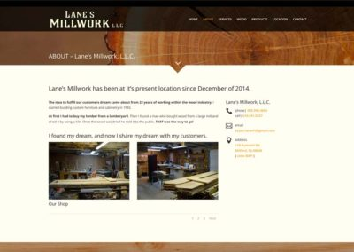 Lanes Millwork | about