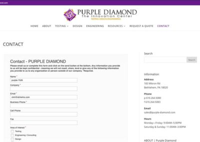 Purple Diamond | contact