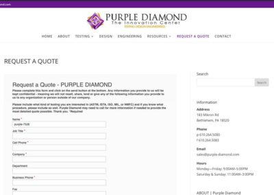Purple Diamond | quote