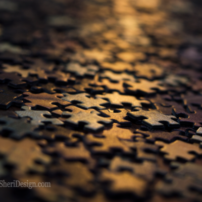 Stock Image - Puzzle Pieces Stock Photo