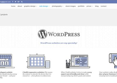 SCREENSHOT| WordPress websites page