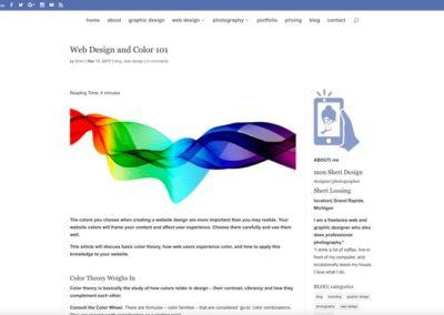 mon Sheri Design blog-WordPress blog website design